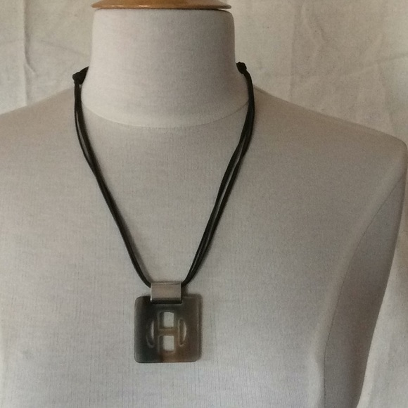 4c8dc8b29c Hermes Jewelry | Herms Buffalo Hornsilver Necklace | Poshmark